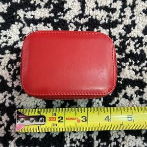 Coach red leather small pill case container